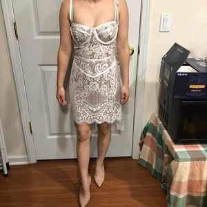 For Love And Lemons Tati Lace Corset Dress Nwt
